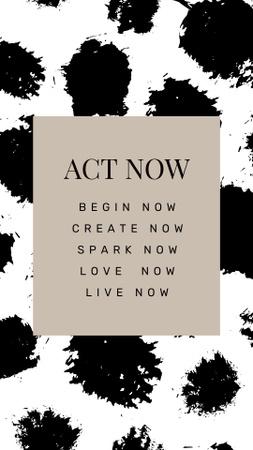 Inspirational Words on black spots Instagram Story Modelo de Design