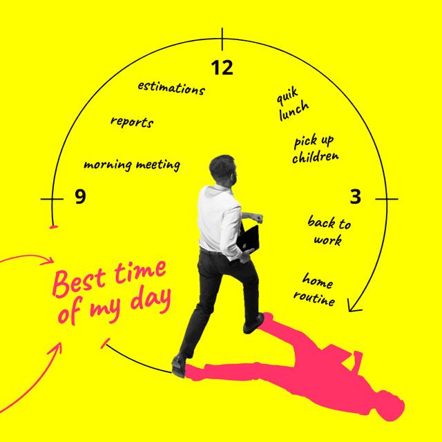 Man checking his Day Schedule Instagram – шаблон для дизайну