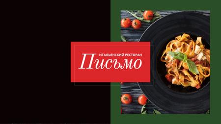 Delicious Italian pasta Youtube – шаблон для дизайна