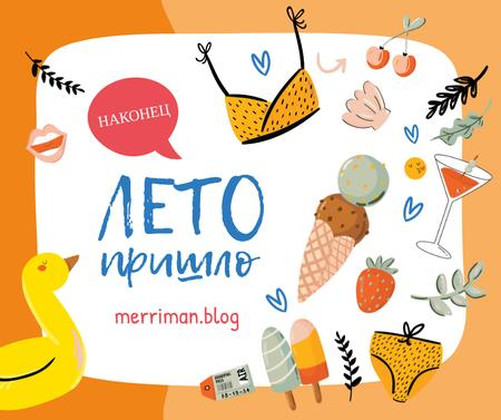 Summer clothes and food Facebook – шаблон для дизайна