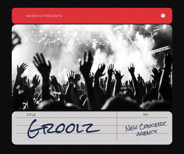 Plantilla de diseño de Concert Agency Services Ad with Crowd at Performance Facebook