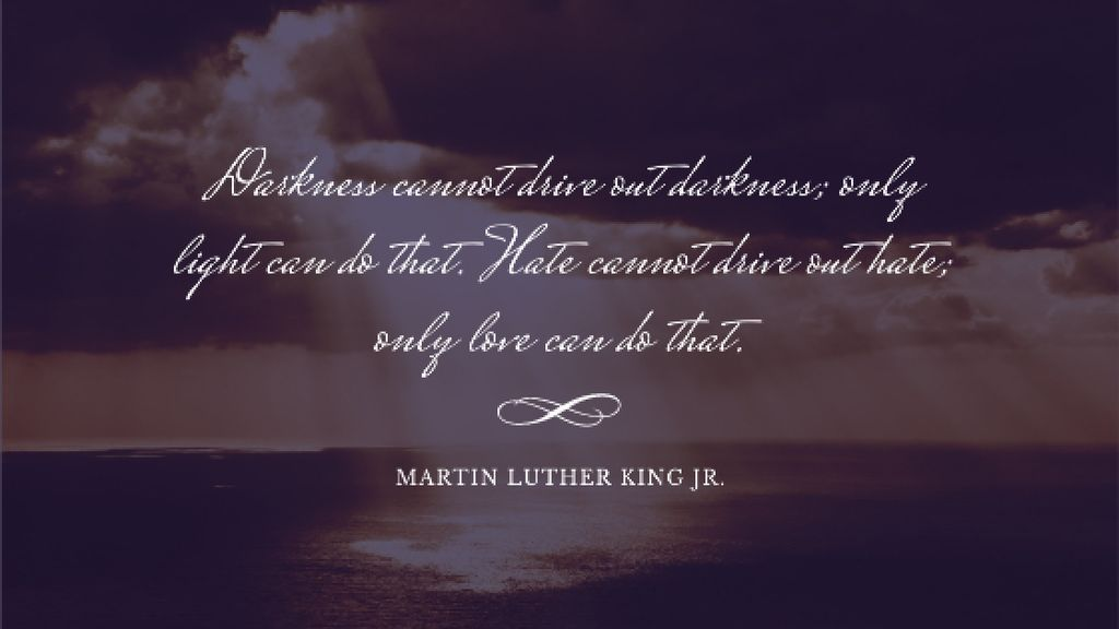 Martin Luther King quote on sunset sky Title Design Template