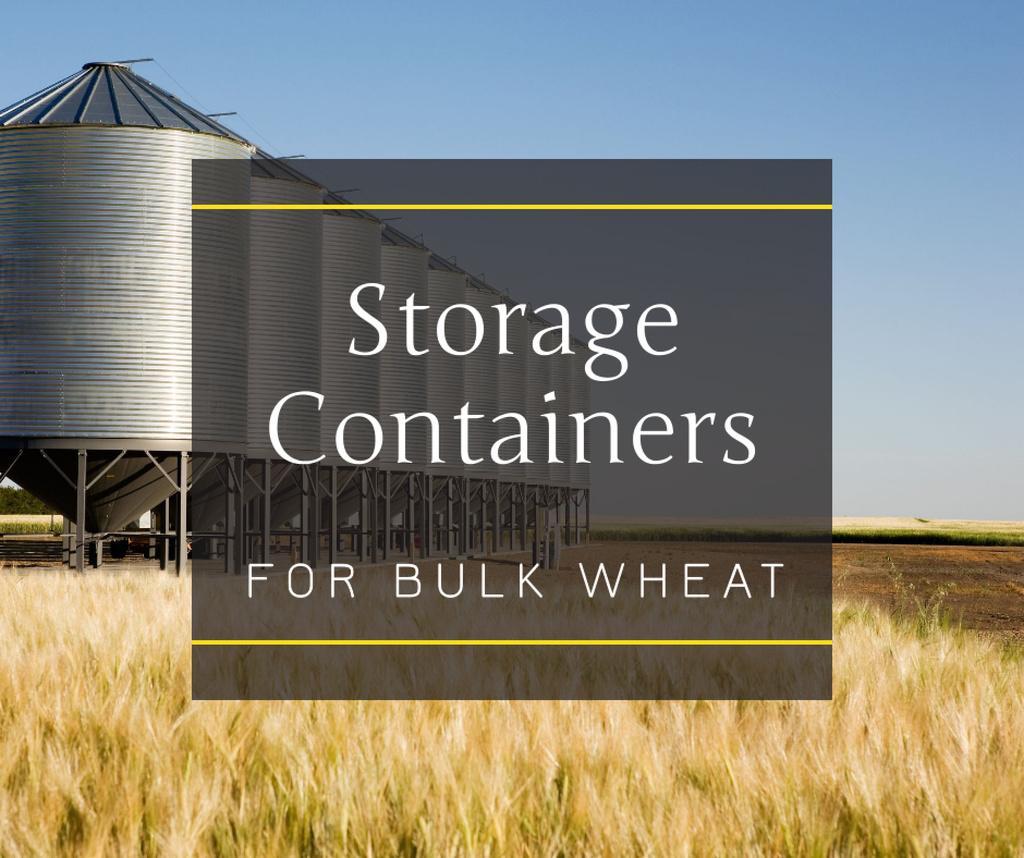 Plantilla de diseño de Large industrial Containers in field Facebook