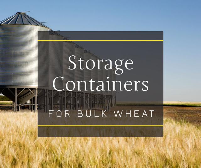 Large industrial Containers in field Facebook Modelo de Design
