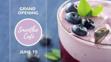 Szablon projektu Smoothie Cafe Advertisement Blueberries Drink FB event cover