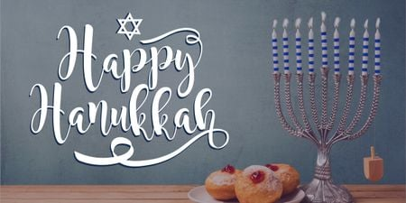Plantilla de diseño de Happy Hanukkah greeting card  Image