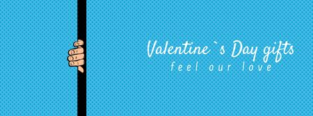 Special Valentine's Day's Gifts in Blue Facebook Video cover Modelo de Design