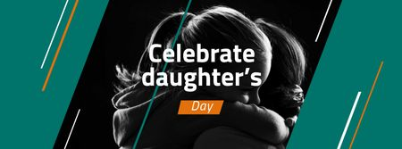 Daughter's Day Announcement with Daughter hugging Mom Facebook coverデザインテンプレート