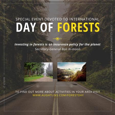 Special Event devoted to International Day of Forests Instagram Modelo de Design