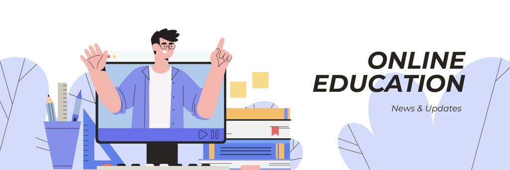 Online Education News Twitter – шаблон для дизайну