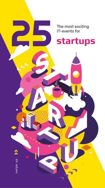 Business startup inscription Instagram Story – шаблон для дизайну