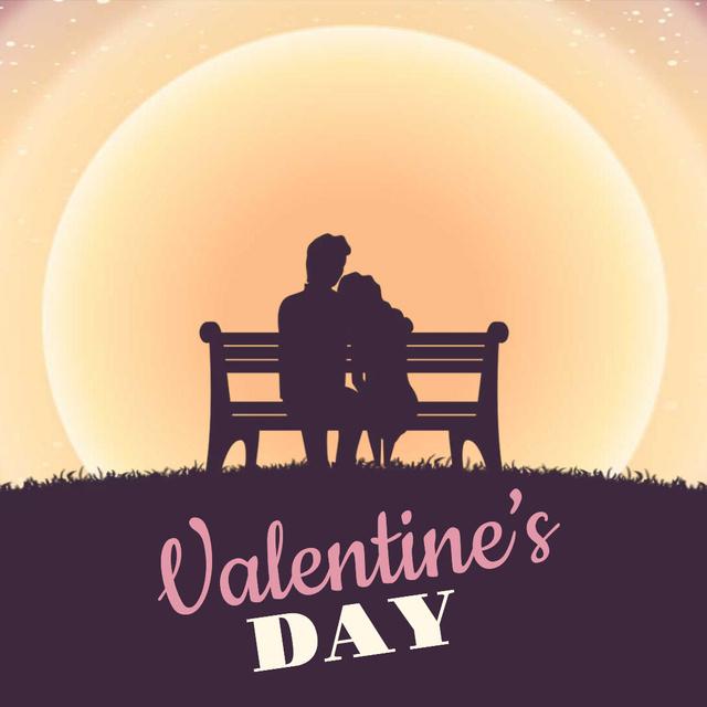 Loving Couple on Valentine's Day Animated Post Modelo de Design