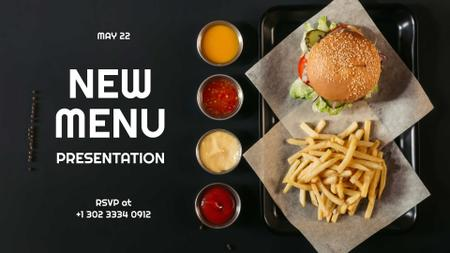 Modèle de visuel Fast Food Menu offer Burger and French Fries - FB event cover
