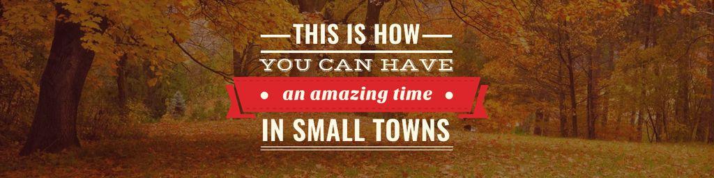 Beautiful autumnal Quote — Crea un design