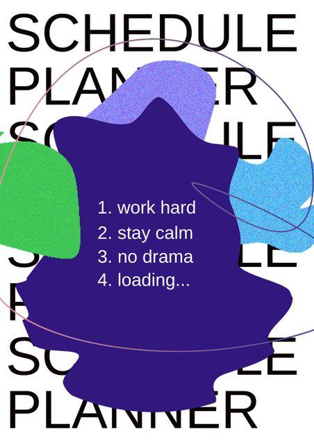 Funny Schedule Goals Schedule Planner – шаблон для дизайна
