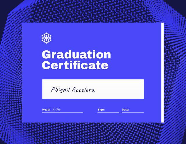 Modèle de visuel Graduation Award with Abstract Geometric Figure - Certificate