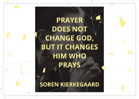 Template di design Religion Quote with Woman Praying Postcard