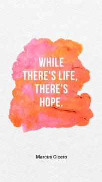 Hope Quote on pink paint
