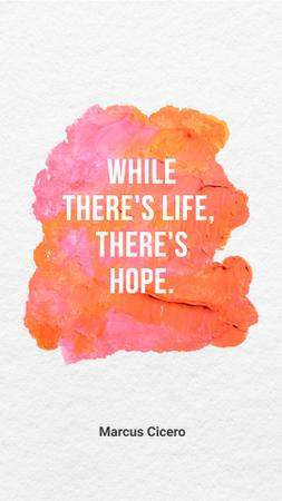 Hope Quote on pink paint Instagram Story Modelo de Design