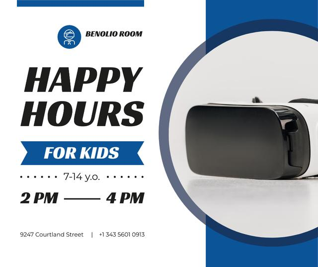Template di design Happy Hours Offer VR Glasses Facebook