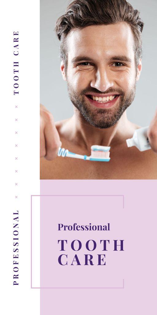 Man brushing his teeth - Bir Tasarım Oluşturun