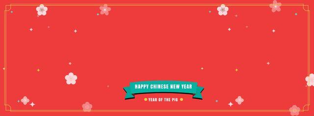 Plantilla de diseño de Happy Chinese Pig New Year Facebook Video cover