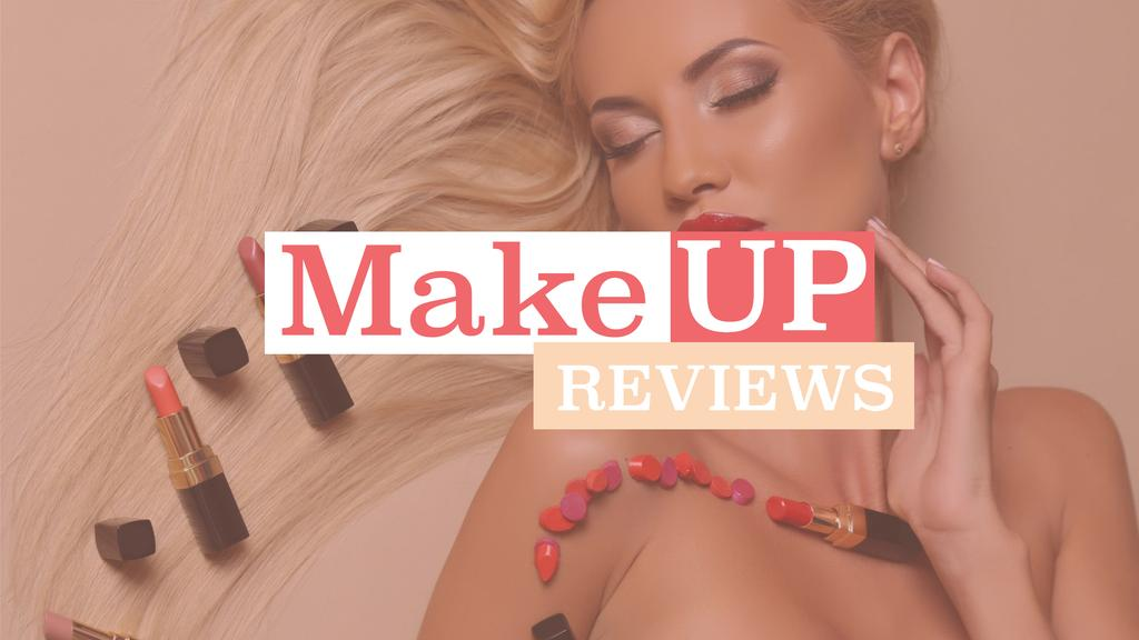 Makeup reviews poster — Crea un design