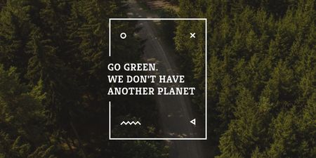 Plantilla de diseño de Citation about green planet Twitter