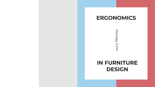 Plantilla de diseño de Furniture Design tips on colorful Stripes FB event cover