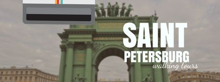 Designvorlage Saint Petersburg famous travelling spots für Facebook Video cover