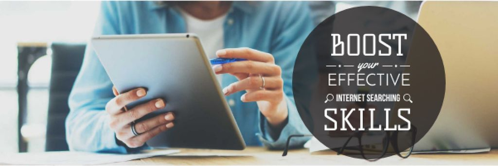 Boost internet searching skills Email header Modelo de Design