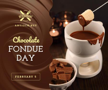 Modèle de visuel Hot chocolate fondue day celebration - Facebook