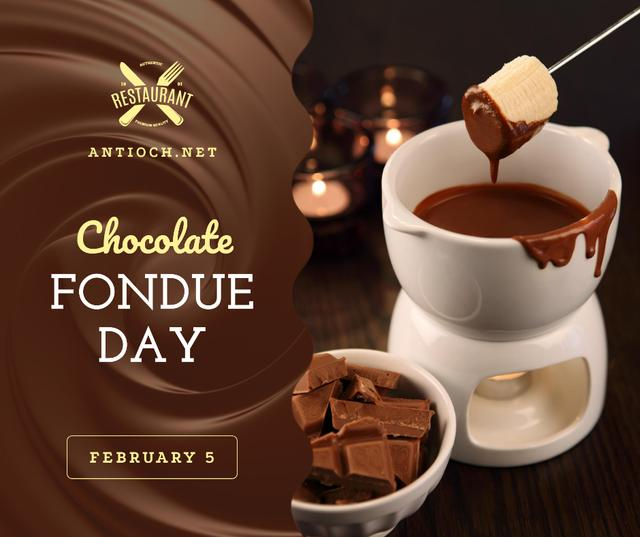 Plantilla de diseño de Hot chocolate fondue day celebration Facebook