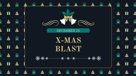 Ontwerpsjabloon van FB event cover van Christmas Event Announcement with Festive Gifts and Trees