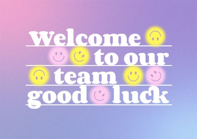 Szablon projektu Welcome Phrase with Smiling Emoji Faces Card