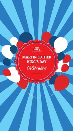 Martin Luther King's Day Celebration Announcement Instagram Story – шаблон для дизайна