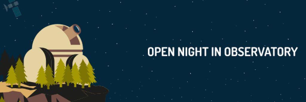 Open night in Observatory Announcement — Создать дизайн