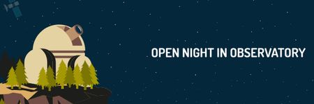Open night in Observatory Announcement Email header – шаблон для дизайна