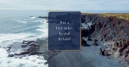Template di design Travel Quote on Rocky Coast View Facebook AD