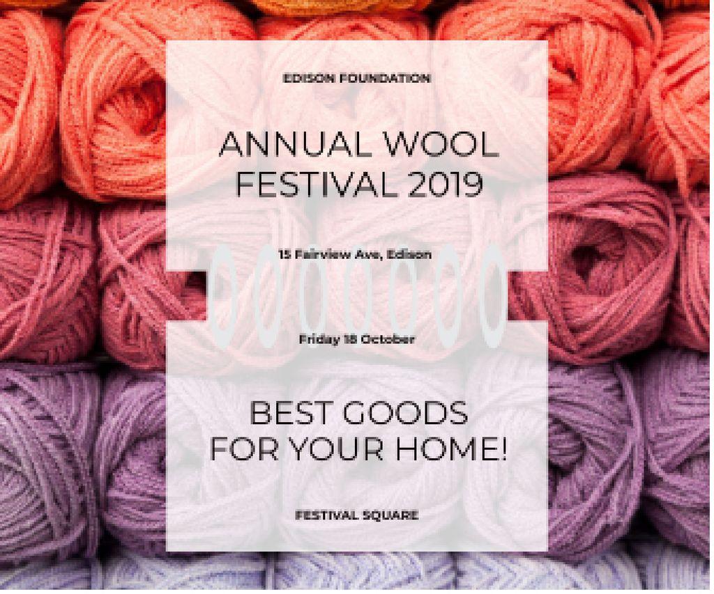 Knitting Festival Invitation Wool Yarn Skeins — Створити дизайн