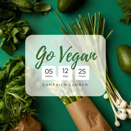 Vegan Lifestyle Campaign Launch Announcement Instagramデザインテンプレート