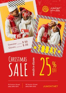 Christmas Sale with Couple with Presents