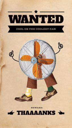 Ontwerpsjabloon van Instagram Story van Funny Illustration of Ventilator with Human Legs