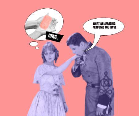 Modèle de visuel Funny Joke about Woman's Scent - Large Rectangle