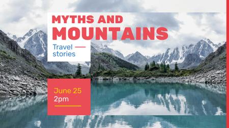 Modèle de visuel Travel inspiration Snowy Mountains View - FB event cover