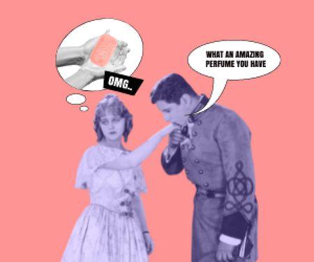 Modèle de visuel Funny Joke about Woman's Scent - Medium Rectangle