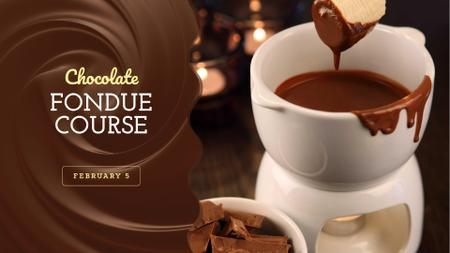 Hot chocolate Fondue dish FB event cover Modelo de Design