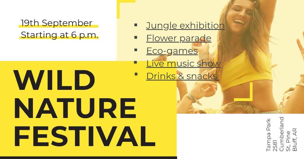 Wild nature festival with Happy Crowd — Створити дизайн
