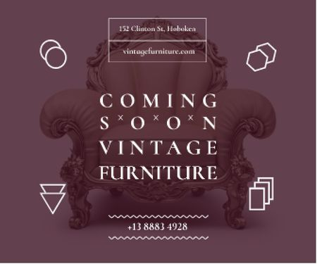 Ontwerpsjabloon van Large Rectangle van Antique Furniture Ad Luxury Armchair