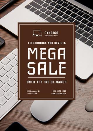 Special Sale with Digital Devices Poster Modelo de Design